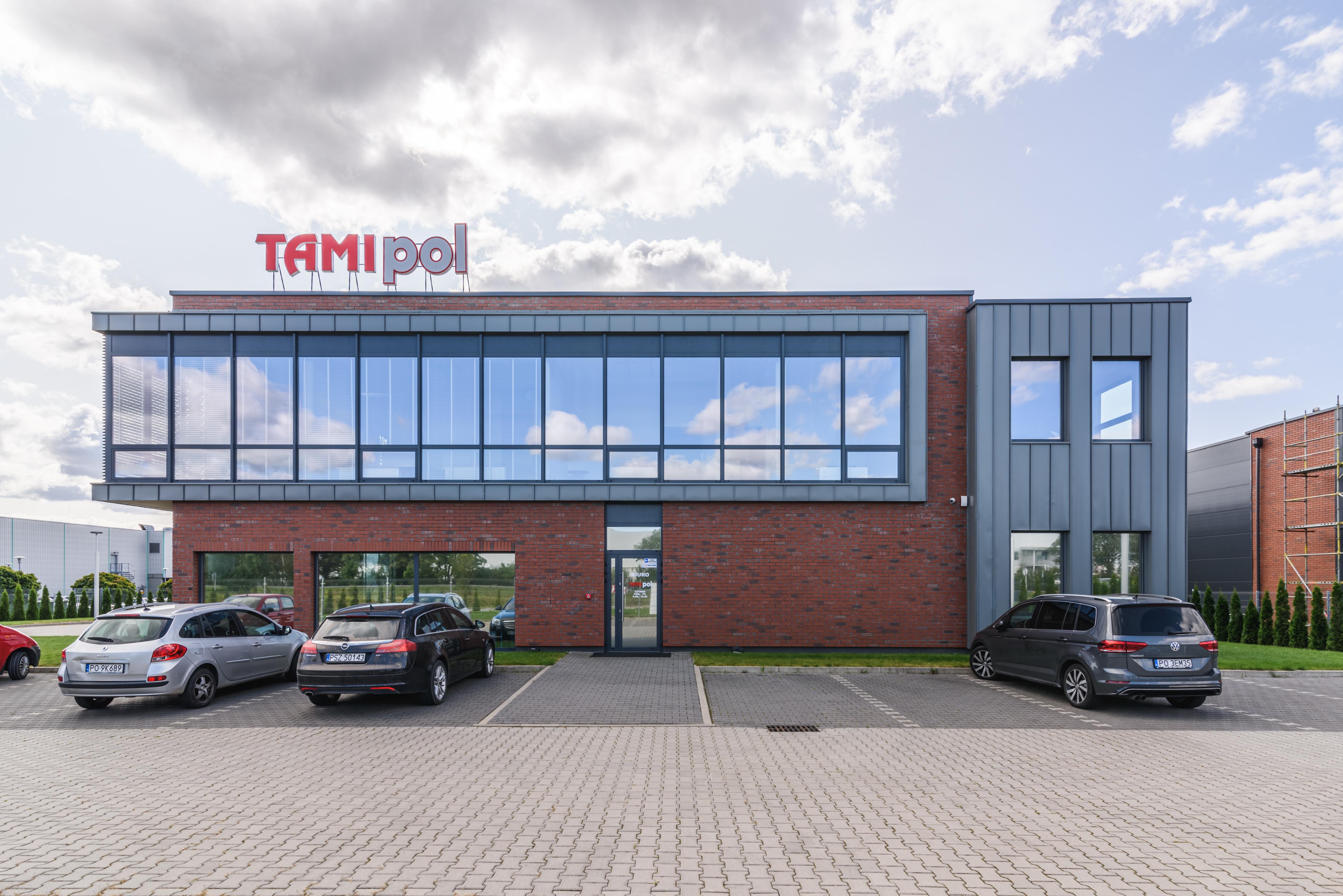 Budynek magazynowy z częścią administracyjną M S Budownictwo Sp. z o. o. sp. k. Tarnowo Podgórne