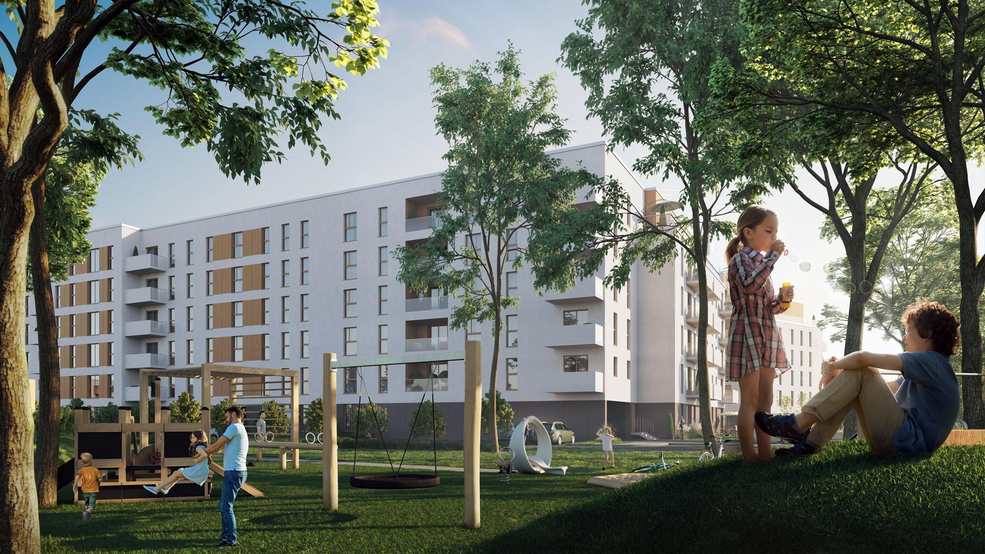 Soleil de Malta Budynek mieszkalny wielorodzinny Bouygues Immobilier Polska Poznań Plac zabaw